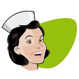 Retro illustration of a nurse Royalty Free Stock Images
