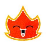 Retro illustration style cartoon fire. A creative illustrated retro illustration style cartoon fire royalty free illustration