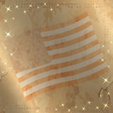Retro  illustration with US flag on the background Royalty Free Stock Image