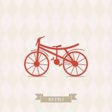 Retro- Illustrations-Fahrrad. Stockbild