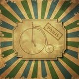 Retro- Illustrations-Fahrrad Lizenzfreie Stockfotos