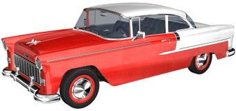 Retro illustrazione classica dell'automobile isolata Fotografia Stock