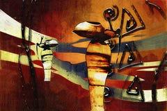 Retro illustrazione d'annata etnica africana Immagine Stock Libera da Diritti