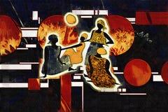 Retro illustrazione d'annata etnica africana Immagini Stock Libere da Diritti