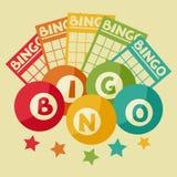 Retro illustrazione del gioco di lotteria o di bingo Illustrazione Vettoriale