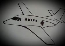 Retro illustrazione dell'aeroplano Fotografie Stock