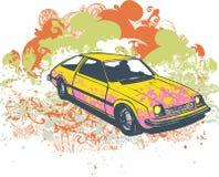 Retro illustrazione dell'automobile Fotografia Stock Libera da Diritti