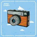 Retro illustrazione della macchina fotografica Immagine Stock