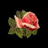 Retro illustrazione della Rosa Immagini Stock Libere da Diritti