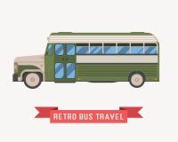 Retro illustrazione di autobus Immagine Stock