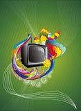 Retro illustrazione di colore astratta della TV Immagine Stock