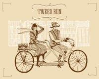Retro illustrazione di giro del tweed Fotografia Stock Libera da Diritti