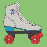 Retro illustrazione di vettore dei pattini di rullo illustrazione vettoriale
