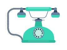Retro illustrazione di vettore del vecchio telefono cellulare Immagini Stock Libere da Diritti