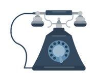 Retro illustrazione di vettore del vecchio telefono cellulare Immagini Stock