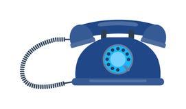 Retro illustrazione di vettore del vecchio telefono cellulare illustrazione di stock
