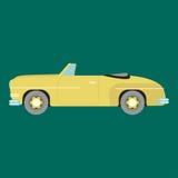 Retro illustrazione di vettore dell'automobile Immagini Stock