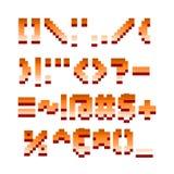 Retro illustrazione di vettore di progettazione di gioco di computer della fonte del pixel Fotografie Stock Libere da Diritti