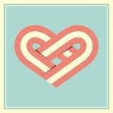 Retro illustrazione di vettore di simbolo del cuore Fotografia Stock