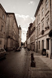 Retro image of ancient old street Royalty Free Stock Photography