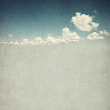 Retro image of cloudy sky Royalty Free Stock Image