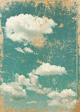 Retro image of cloudy sky.  Stock Photography