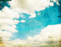 Retro image of cloudy sky. Retro aged image of cloudy sky Royalty Free Stock Images