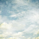 Retro image of cloudy sky Stock Images