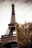 Retro image of Eiffel tower, Paris Royalty Free Stock Photo