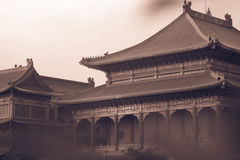 Retro image style. Traditional and architecture Chinese style temple at Wat Mangkon Kamalawat Stock Image