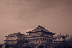 Retro image style. Traditional and architecture Chinese style temple at Wat Mangkon Kamalawat or Wat Leng Noei Yi Stock Image