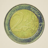 Retro immagine degli euro di sguardo Immagine Stock