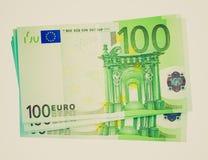 Retro immagine degli euro di sguardo Fotografie Stock Libere da Diritti