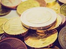 Retro immagine degli euro di sguardo Fotografia Stock Libera da Diritti
