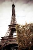 Retro immagine della Torre Eiffel, Parigi Fotografia Stock Libera da Diritti