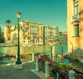 Retro immagine di stile di Grand Canal, Venezia, Italia Fotografia Stock