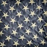 Retro immagine disegnata di un dettaglio della bandiera americana Fotografia Stock