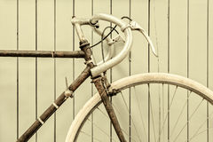 Retro immagine disegnata di una bicicletta di corsa fotografie stock
