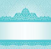 Retro inbjudandesign för turkos Royaltyfri Fotografi