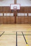 Retro indoor basketbakk hoop Stock Image