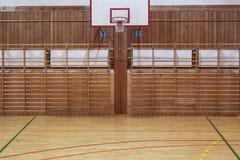 Retro indoor Basketball hoop Stock Photos