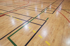 Retro indoor gymnasium floor Royalty Free Stock Photography