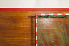 Retro indoor gymnasium goal Royalty Free Stock Images