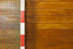 Retro indoor gymnasium goal Stock Images