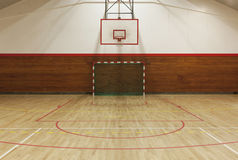 Retro indoor gymnasium Royalty Free Stock Image