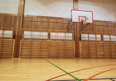 Retro indoor gymnasium Royalty Free Stock Images