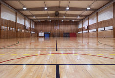 Retro indoor gymnasium Royalty Free Stock Image