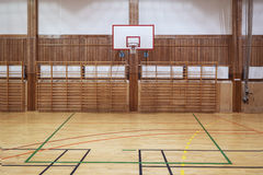 Retro indoor gymnasium Stock Image