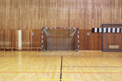 Retro indoor soccer goal Stock Image