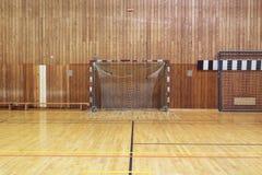 Retro indoor soccer goal Stock Image